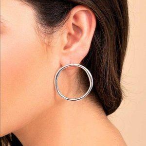Gorjana White Rhodium Quinn Earrings